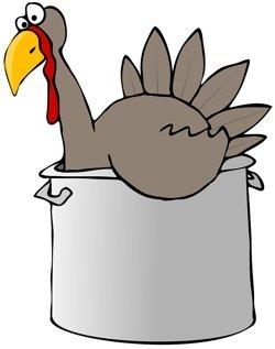 turkey in pot